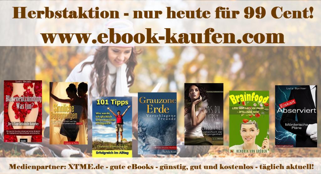 eBook Herbstaktion - Diese eBooks gibt es heute für nur 99 Cent!