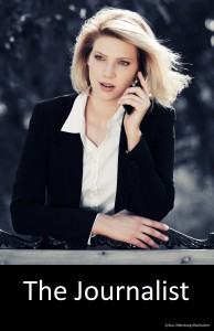 Blond business woman calling on the cell phone
